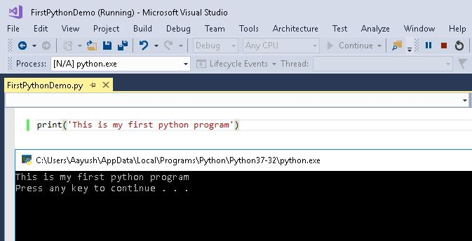 First Python Project in Visual Studio 2017 - CodeProject