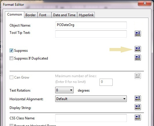 Suppress field in Crystal Reports - CodeProject