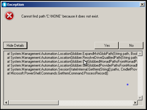 Standard Exception Dialog
