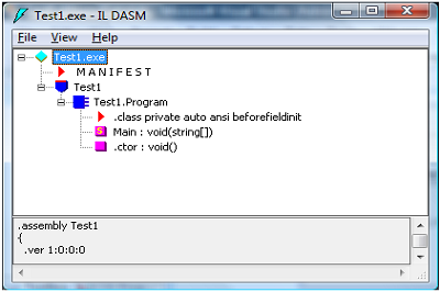 ildasm screen shot