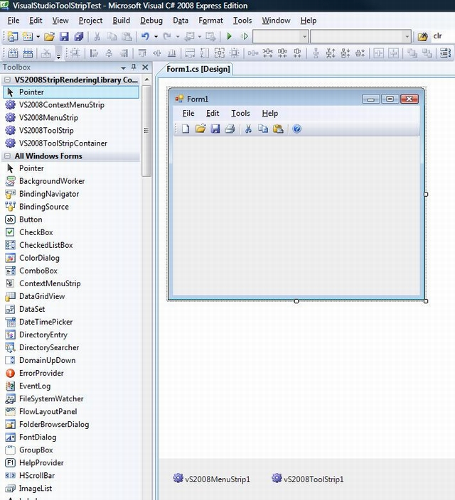 VS2008ToolStrip/VisualStudioToolStrip_formDesign.jpg