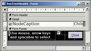 A Tree-View Control Using an MS Access Table and Form