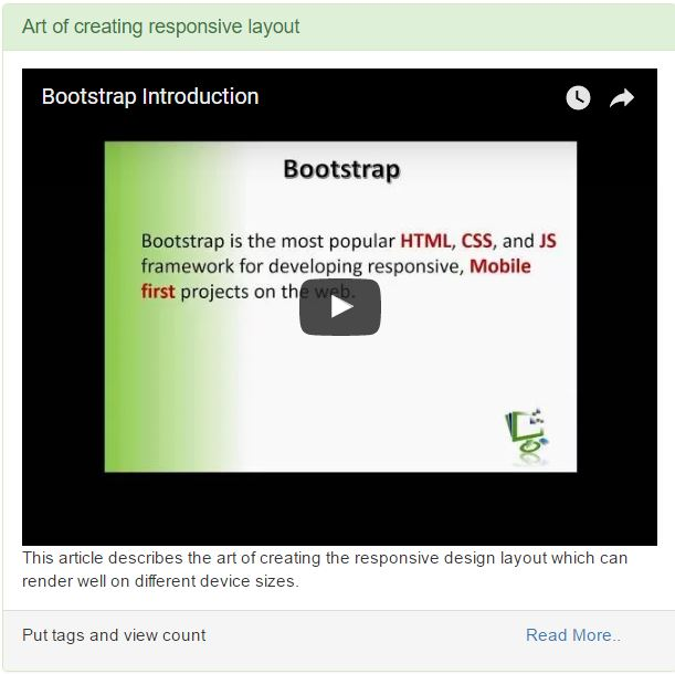 Creating responsive website using bootstrap codeproject conclusion malvernweather Image collections