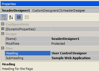 Setting Properties for UserControl