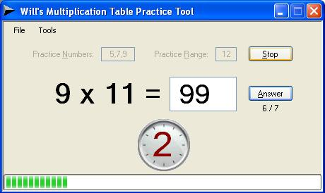 Multiplication Table Practice Tool Codeproject