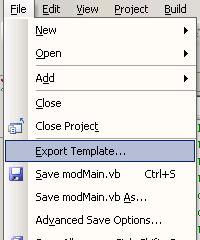 How to create a reusable custom Project Template for VS NET
