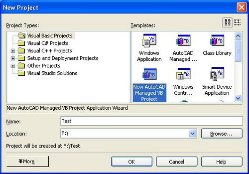 New autocad managed vb project application wizard for Basic cad online
