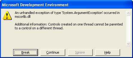 SingleInstance Exception