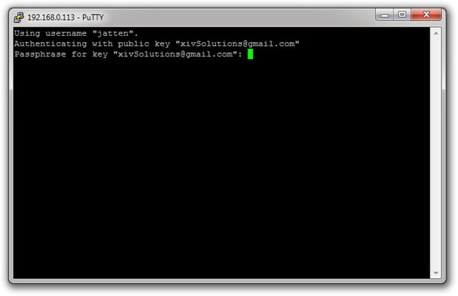 PuTTY-SSH-Login-Before-Enter-Passwor