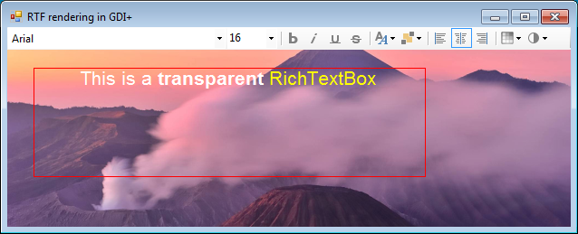 Transparent RichTextBox on top of an image