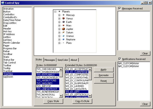 An unthemed dialog (Windows 2000)