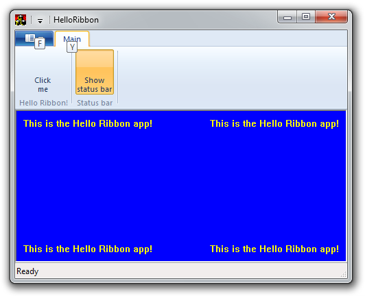 Windows 7 Goodies in C++: Introduction to the Ribbon