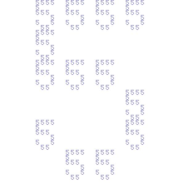 '5/2' fractal, order 3