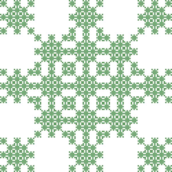 Rug fractal, order 3