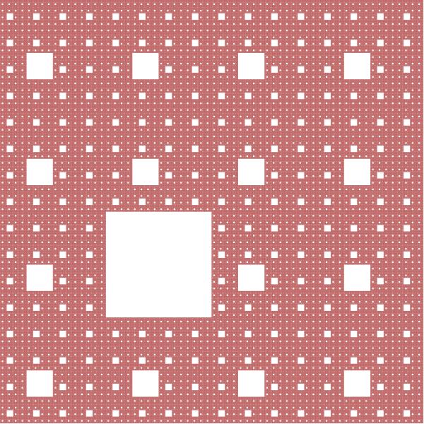 Sierpinski carpet mutant fractal, order 4