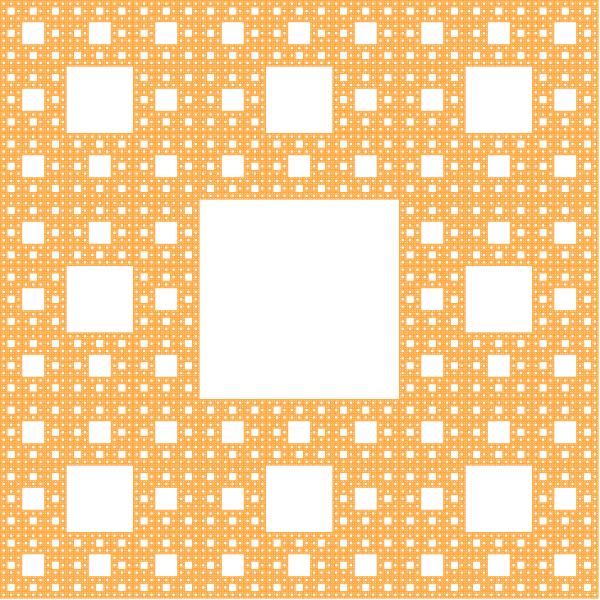 Sierpinski carpet fractal, order 5