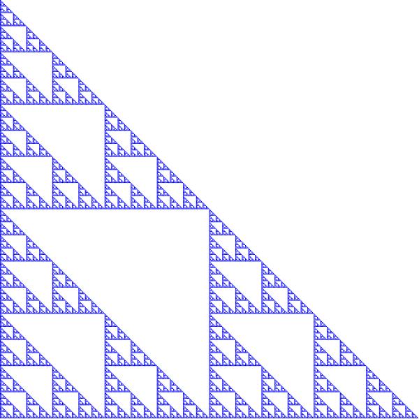 Sierpinski triangle fractal, order 9