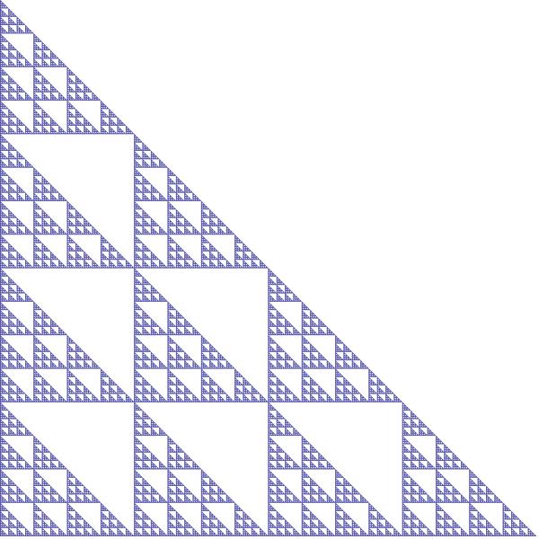 Triangle sibling #1 fractal, order 5