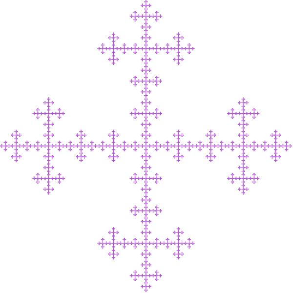 Vicsek fractal, order 6