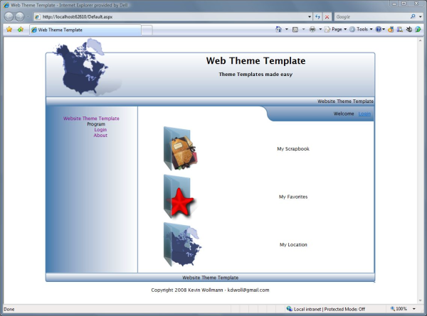 web theme templates creator codeproject
