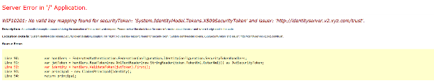 Security Token Error