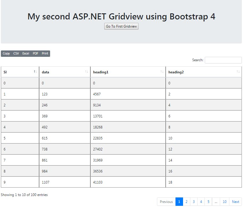 ASP NET Gridview in Web Forms using Bootstrap 4 - CodeProject