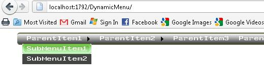 dynamically populationg menu