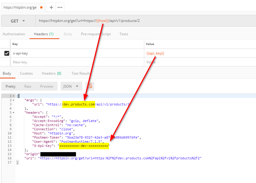 How to create an environment generic request template with