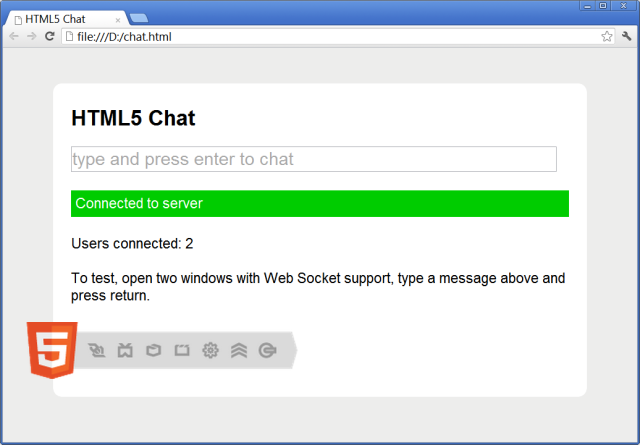 Building a basic html5 clientserver application codeproject the client malvernweather Choice Image