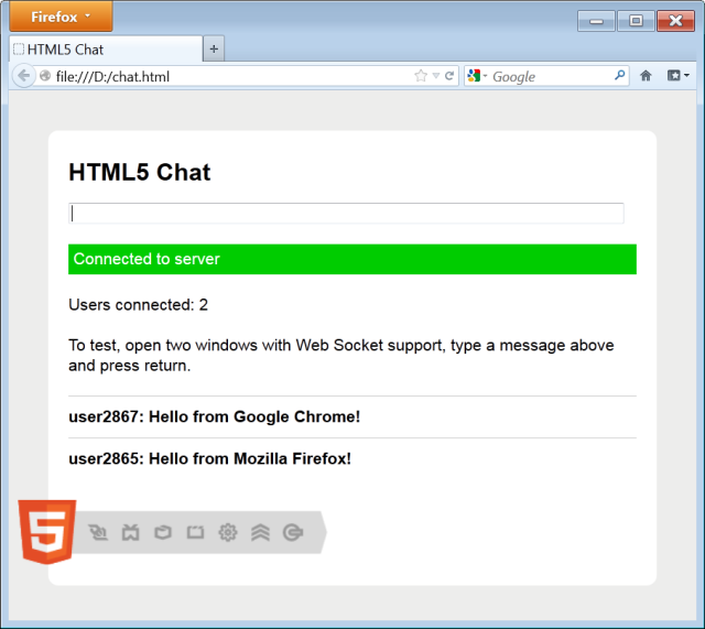Building a basic HTML5 client/server application - CodeProject