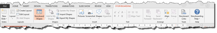 Storyboarding Ribbon