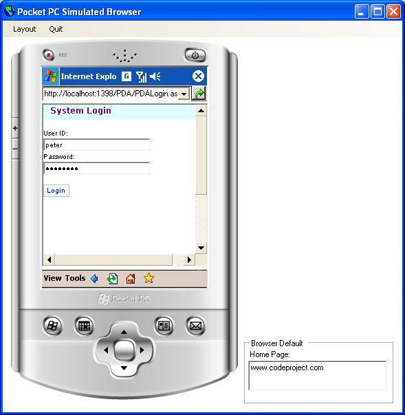 Pocket PC Browser