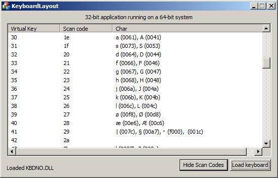 Loading keyboard layout (KbdLayerDescriptor) in 32/64-bit