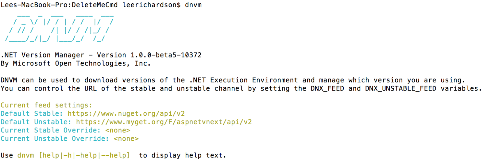 NET on Mac for the OS X n00b without Mono via Visual Studio Code