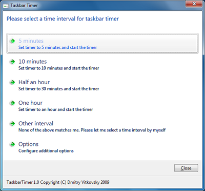Creating a Timer Using the Amazing New Windows 7 Features