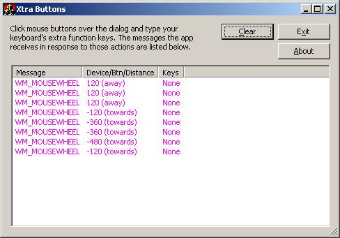 Handling Keyboard and Mouse Application Buttons in WTL