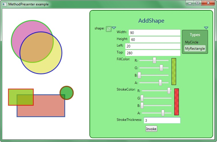 MethodPresenter example